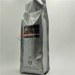 Quad Seal Aluminium Foil Coffee Bags with K-seal Bottom