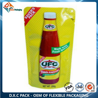 Plastic Aluminum Foil Stand Up Pouches for Sauce Ketchup Packaging