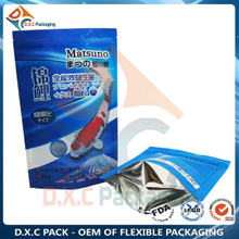 Metallized Stand Up Pouches With Zip Lock Top For Pet Food Packaging