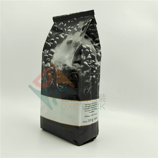 500g Mylar Custom Gusseted Coffee Bags with One Way Valve