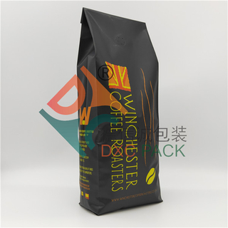 Fully Recyclable Custom Printed Side Gusset Coffee Bags With Valve