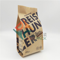 Custom Kraft Paper Side Gusset Resealable Cereal Packaging With Window