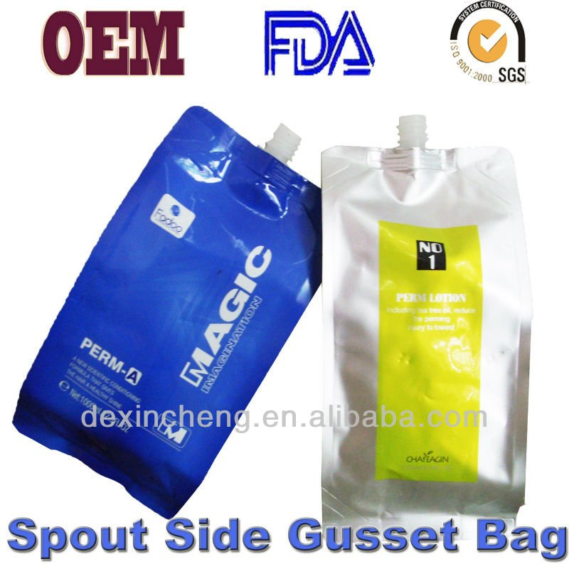 1000ml Side Gusset Spout Pouch for Hair Care Cream