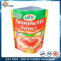 Aluminum Foil Laminated Doypack for Sauce Packaging