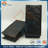 500g Black Mattte Quad Seal Pouch for Coffee Packaging
