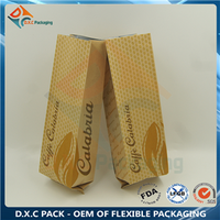 Kraft Paper Corner Sealed Pouch For Coffee Packaging