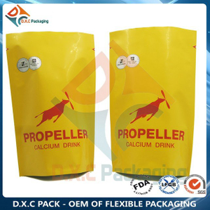 Multi Colors Printed Aluminum Foil Stand Up Pouches with Zipper for Grain Food Packaging