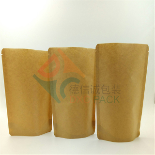 Kraft Paper Compostable Stand Up Pouch for Food Packaging