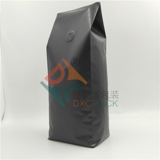 100% Recyclable Excellent Barrier Matte Black Side Gusset Coffee Bags with Valve
