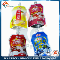 Fruit Juice food liquid stand up spout pouch