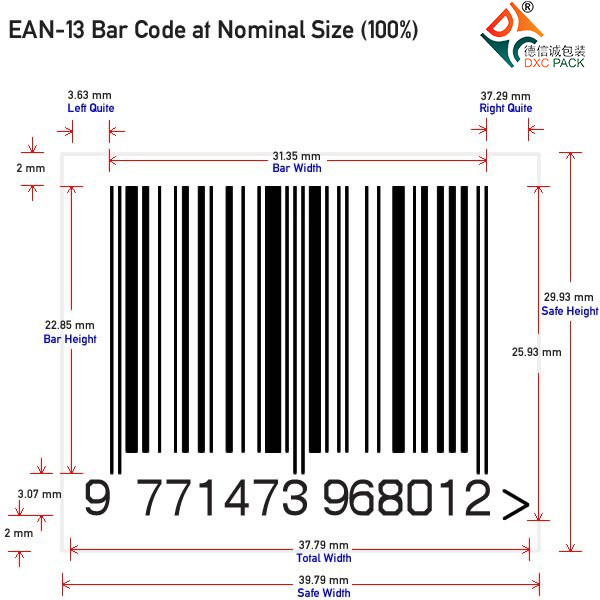 How to Make Your EAN-13 bar-code Dimensions with 100% Magnification?