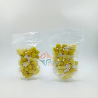 Transparent Stand Up Resealable Zipper Pouches for Snack Food Grain Oatmeal Packaging
