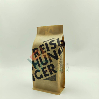 Kraft Paper Flat Bottom Coffee Bag with Custom Window