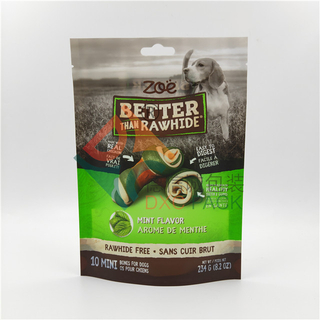 Matte Printed Stand Up Ziplock Dog Food Pouches with Window