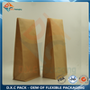 Brown Kraft Paper Flat Bottom Pouch with Coffee Packaging Valve For Food Packaging