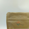 Kraft Paper Stand Up Bags for Oatmeal Health Food Packaging with Flexo Printing