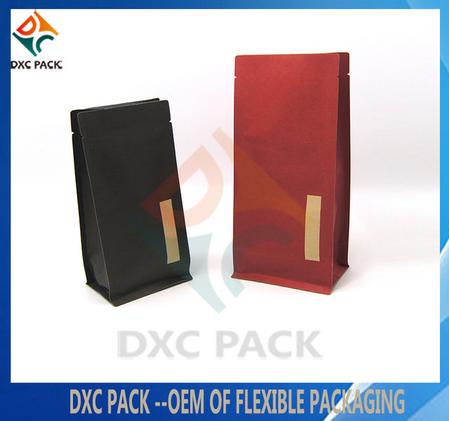 1kg Custom Printing Flat Bottom Paper Bag With Pocket Zipper For Rice Packaging