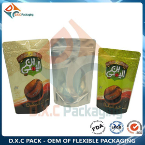 Aluminum Foil Zipper Stand Up Pouches with Valve for Coffee Packaging