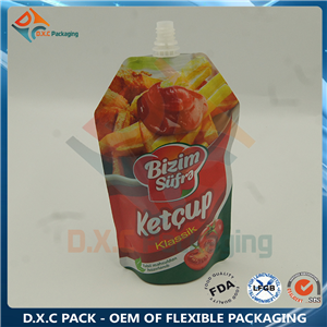 Shaped Spout Pouch for Sauce Packaging