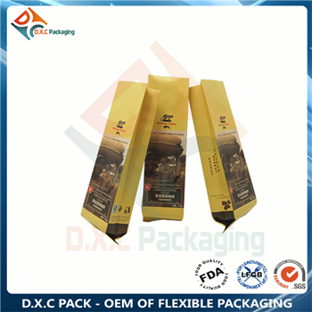 250g foil side gusset bag for coffee packaging