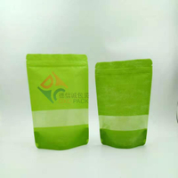 Stand-up food packaging paper bags with window 250ml