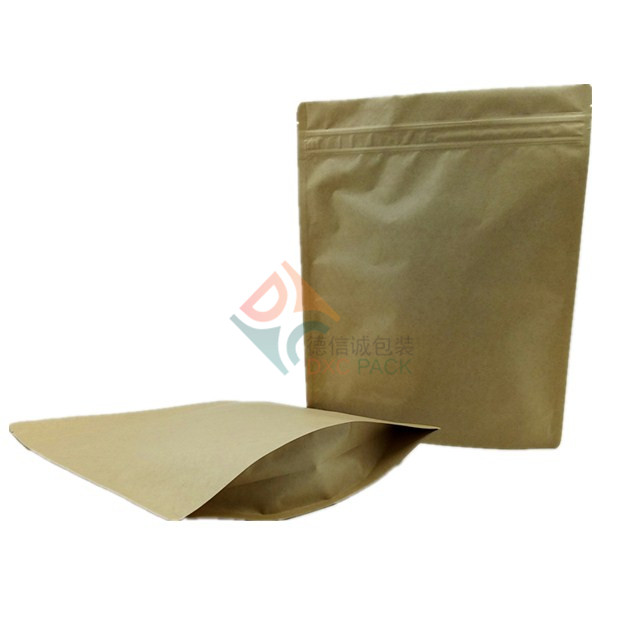 Kraft Paper Stand Up Pouches Zip Lock Snack Food Packaging Bag 5000ml